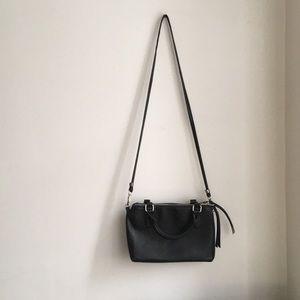 Black forever 21 faux leather bag